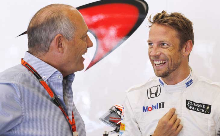 Ron Dennis e Jenson Button