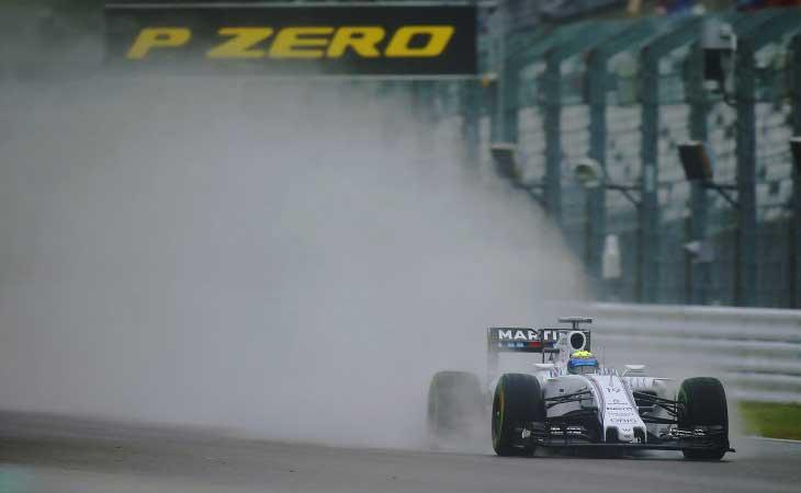 F1 – Massa lidera segundo treino chuvoso em Sochi