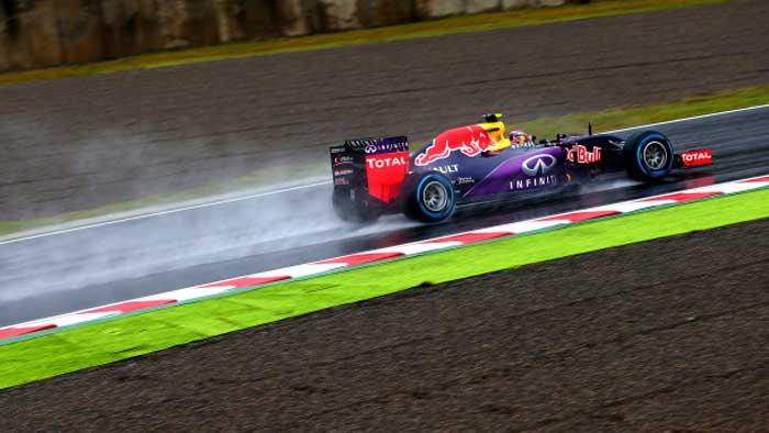 F1 – Kvyat lidera o TL2 chuvoso em Suzuka