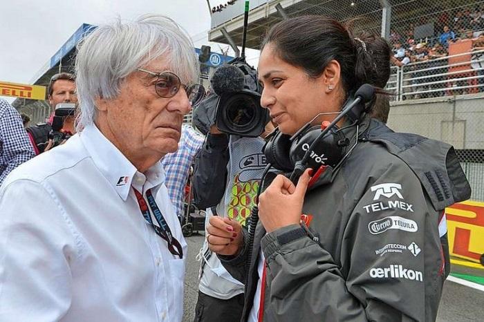 Bernie Ecclestone e Monisha Kaltenborn