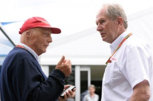 Niki Lauda e Helmut Marko