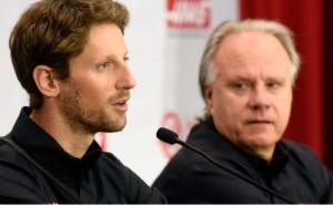 Romain Grosjean e Gene Haas