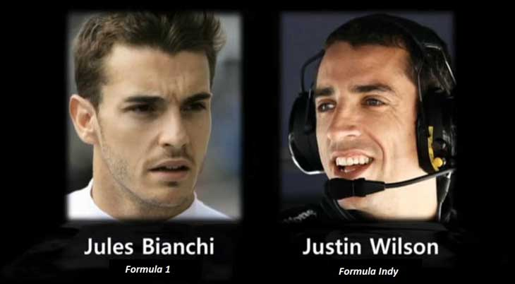 Jules Bianchi e Justin Wilson