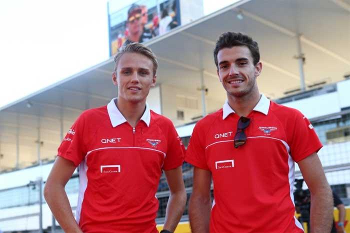 Max Chilton e Jules Bianchi em 2014