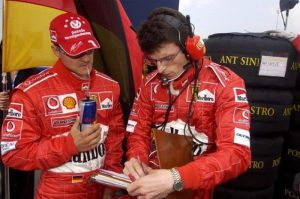 Michael Schumacher e Chris Dyer