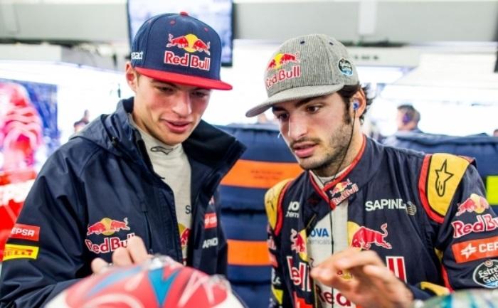Max Verstappen e Carlos Sainz