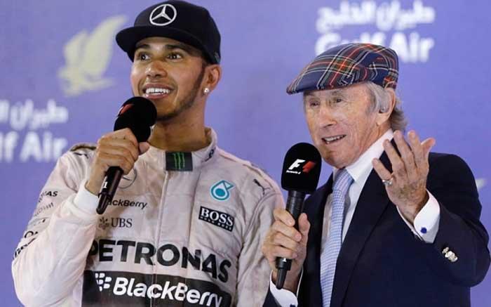 Lewis Hamilton e Jackie Stewart