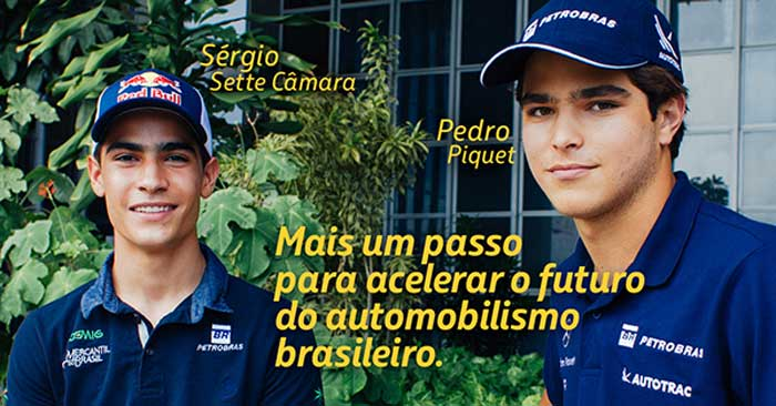 Petrobras vai patrocinar Pedro Piquet e Sérgio Sette Câmara