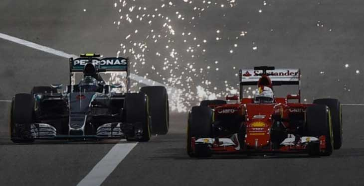 Rosberg vs Vettel - Bahrain 2015