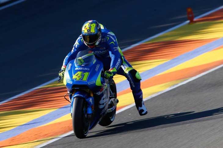 Aleix Espargaro nos testes em Valencia
