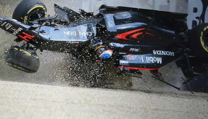 Acidente de Alonso no GP da Austrália
