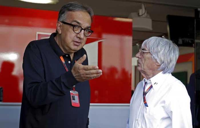 Sergio Marchionne e Bernie Ecclestone