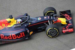 Proteção do cockpit da Red Bull