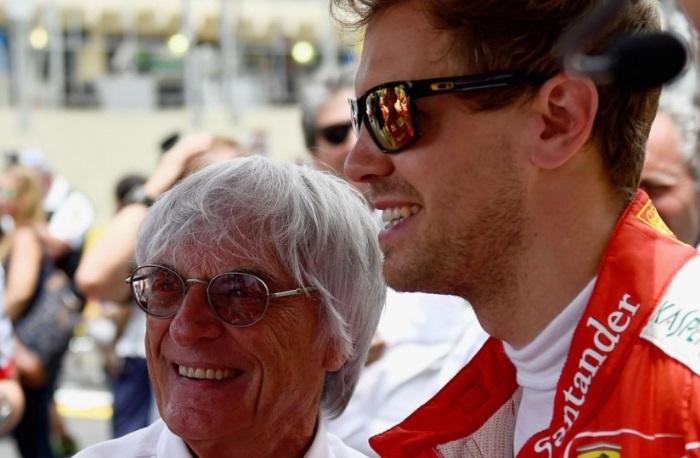Bernie Ecclestone e Sebastian Vettel
