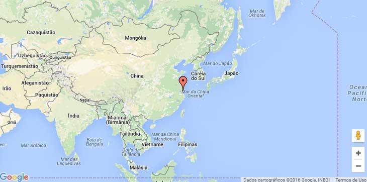 Onde fica Xangai exatamente