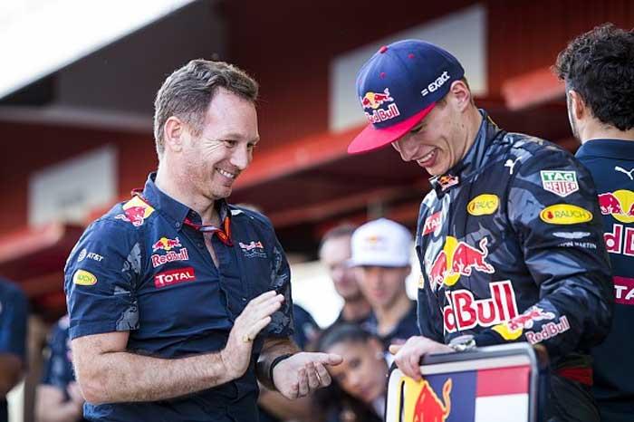 Christian Horner e Max Verstappen