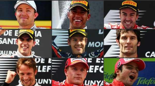 Últimos nove vencedores em Barcelona