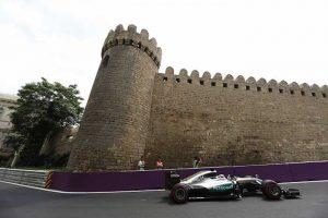Lewis Hamilton em Baku