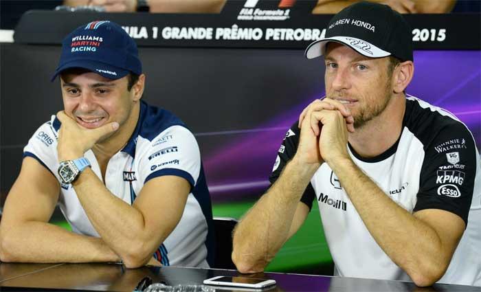 Felipe Massa e Jenson Button