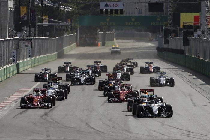 Largada do GP da Europa em Baku