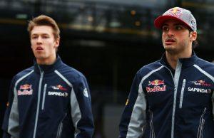Daniil Kvyat e Carlos Sainz