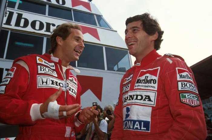 Gerhard Berger e Ayrton Senna