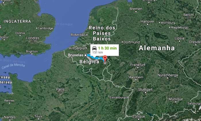 Bruxelas a Spa-Francorchamps são 151 km de carro