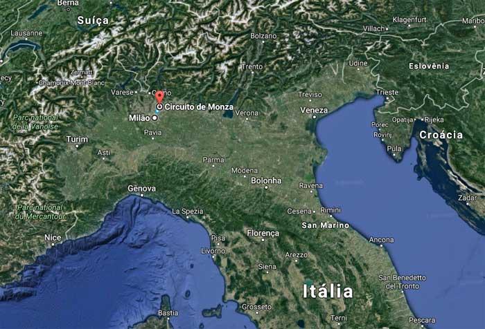 Milão - Monza são 21 km de carro