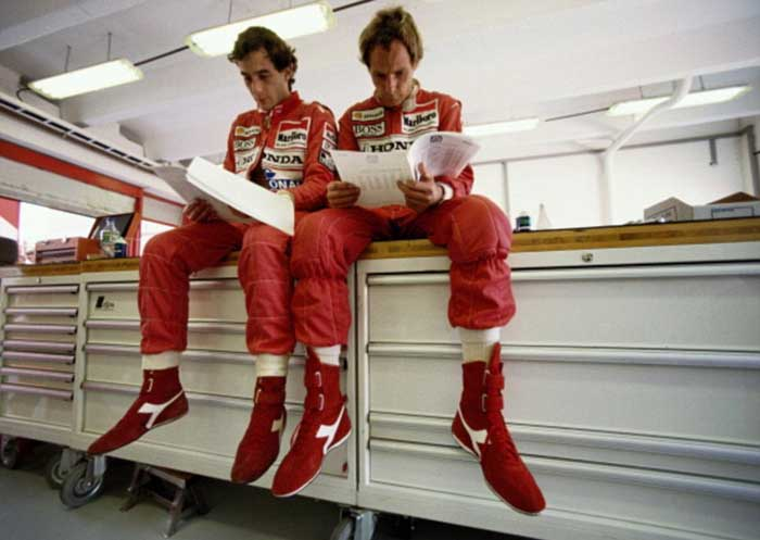 Ayrton Senna e Gerhard Berger