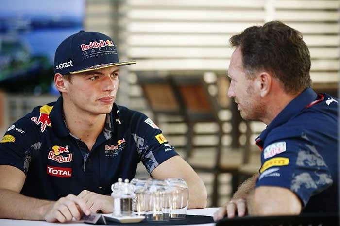 Max Verstappen e Christian Horner