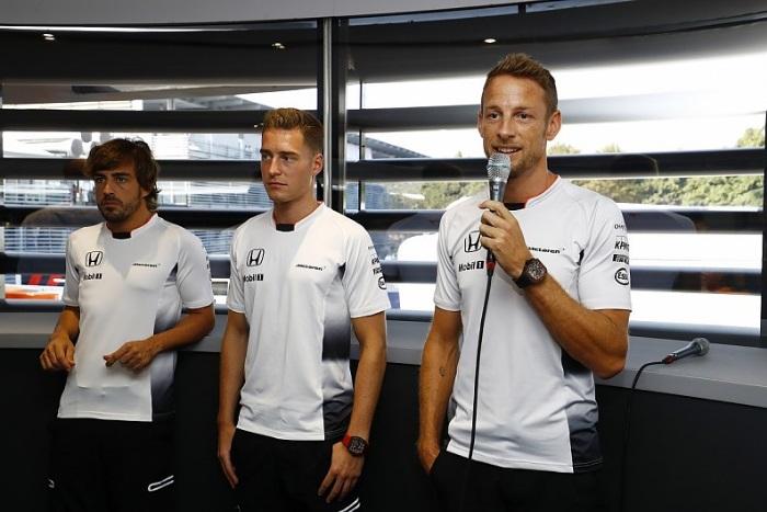Fernando Alonso, Stoffel Vandoorne e Jenson Button