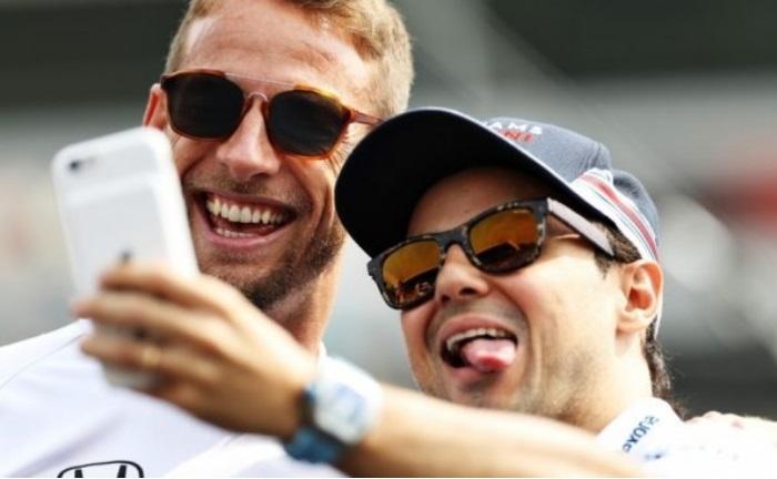 Jenson Button e Felipe Massa