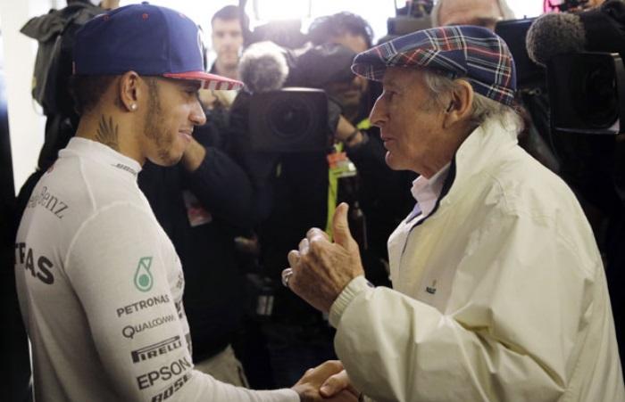 Lewis Hamilton e Sir Jackie Stewart