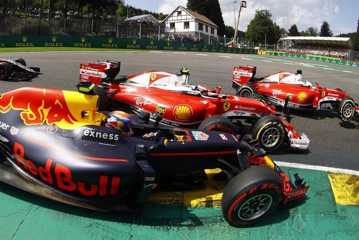 Max Verstappen, Kimi Raikkonen e Sebastian Vettel