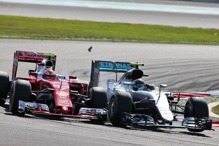 Kimi Raikkonen e Nico Rosberg