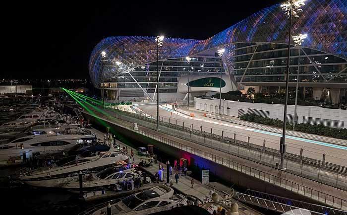 Pista de Yas Marina em Abu Dhabi