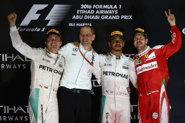 Pódio do GP de Abu Dhabi