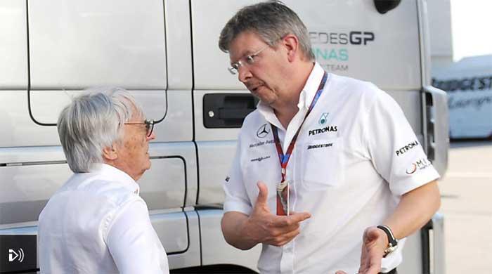 Bernie Ecclestone e Ross Brawn