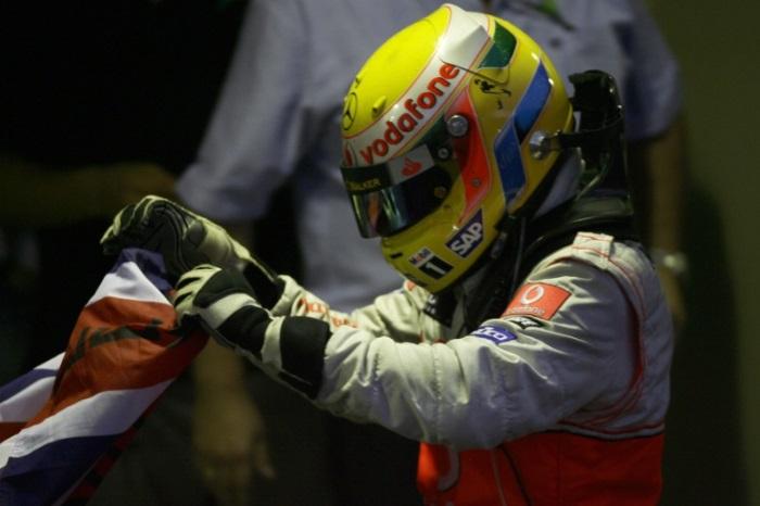 Lewis Hamilton no GP do Brasil em 2008