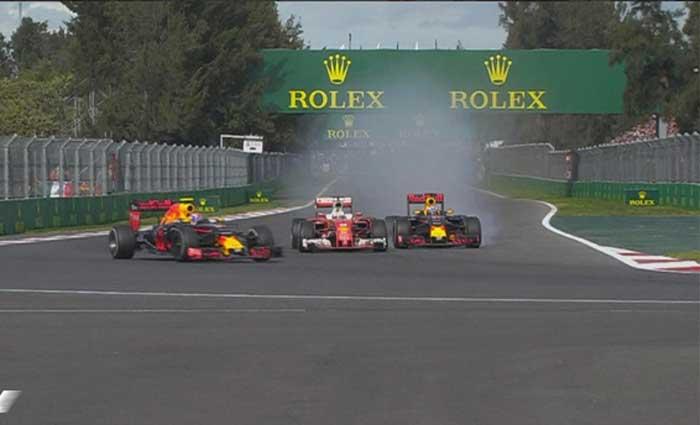 Verstappen vs Vettel vs Ricciardo - México 2016