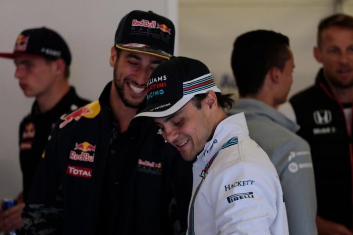 Daniel Ricciardo e Felipe Massa