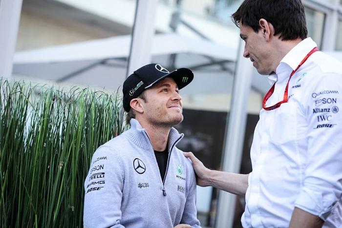 Nico Rosberg e Toto Wolff