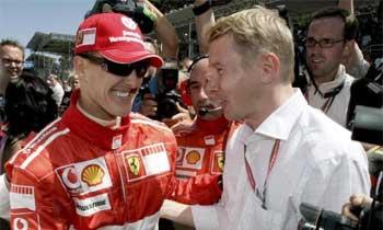Michael Schumacher e Mika Hakkinen