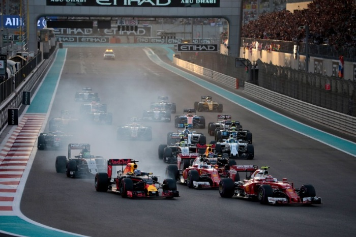 Largada GP de Abu Dhabi
