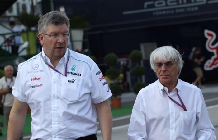 Ross Brawn e Bernie Ecclestone