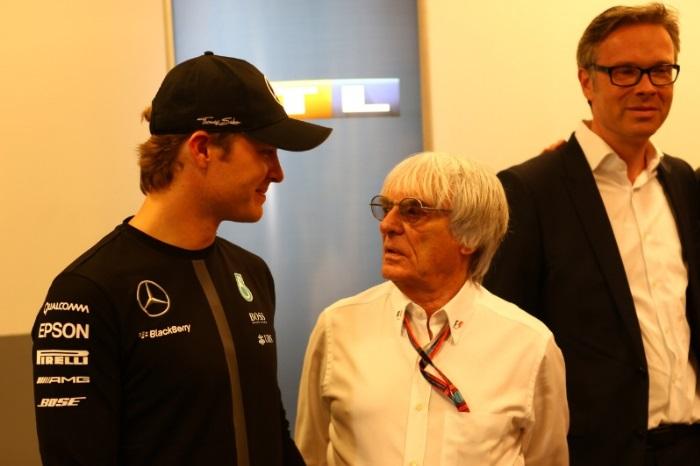 Nico Rosberg e Bernie Ecclestone