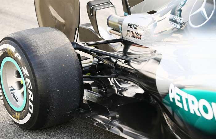 Suspensão traseira da Mercedes