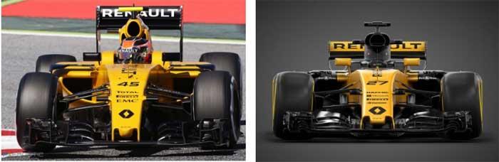 Renault RS16 vs Renault RS17