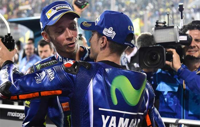 Rossi e Vinales - Catar 2017