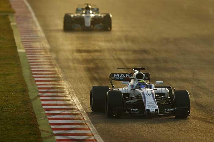 Felipe Massa hoje em Barcelona